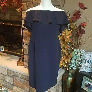 Calvin Klein off shoulder dress. Sz 12